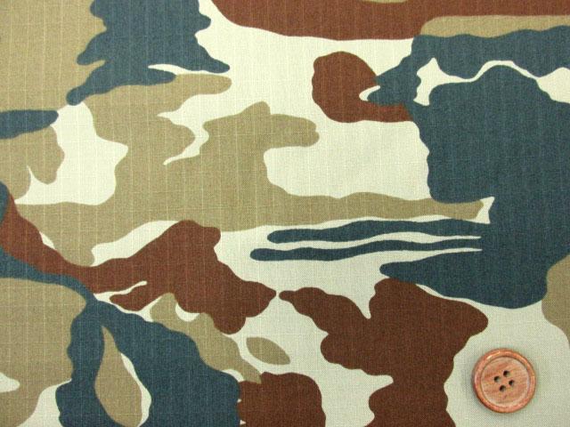 アイテムポストで買える「145cm巾 リップストップ生地 迷彩柄 (ベージュ系)」の画像です。価格は97円になります。