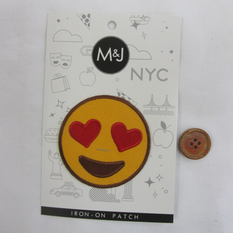 画像1: M&J New York  にこにこワッペン (大) アイロンタイプ