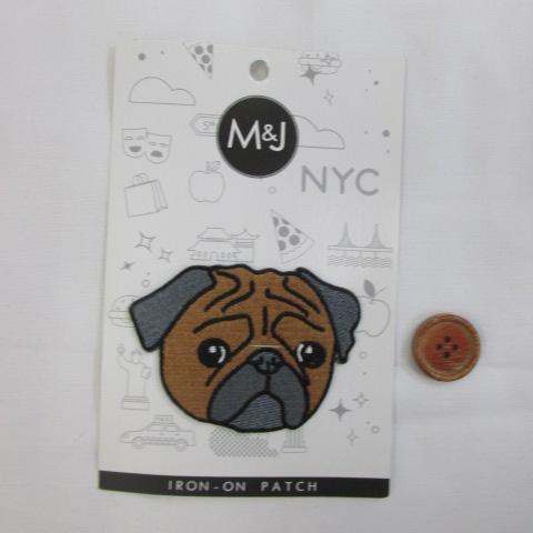 画像1: M&J New York  ブルドック犬 アイロンタイプ