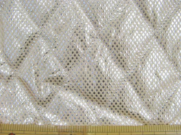 画像1: ▼訳あり 【丈夫でミシンで縫えます!】アルミ保温・保冷シート(120cm幅)[ベージュ] はぎれ20cm