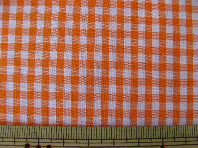 画像1: 現品限り ギンガムチェック (オレンジ色)