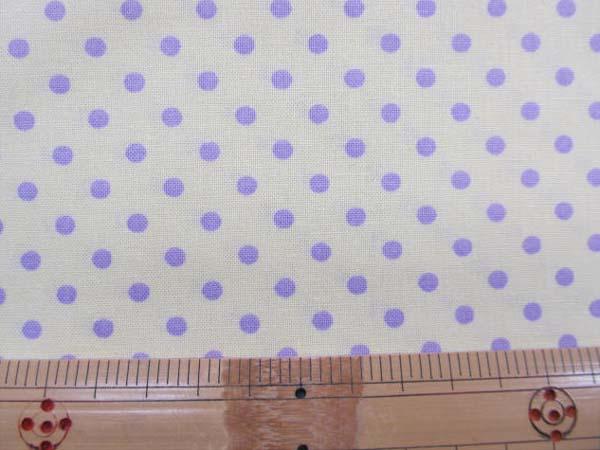 画像1: ☆4mm ドット   紫色の水玉 (イエロー)【 カラー 6 】 シーチング生地 はぎれ25cm