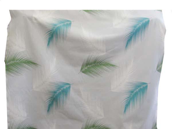 画像1: 🍀特価!150cm巾10番キャンバス 大きな葉柄 (薄グレー)はぎれ50cm