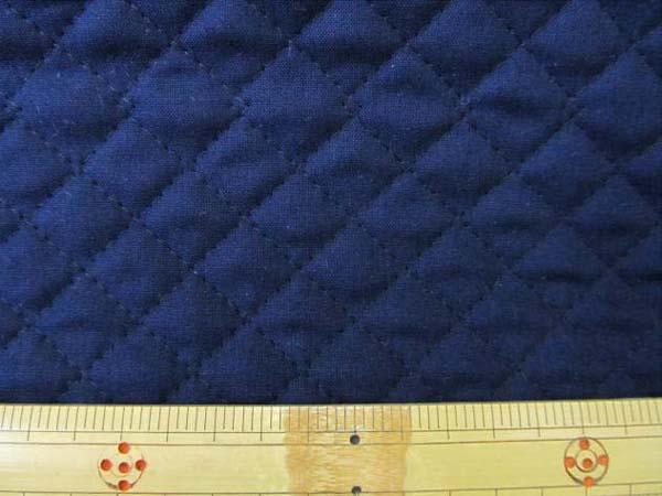 画像1: 【定番】無地 広巾シーチングキルト 104cm巾 はぎれ60cm(紺)