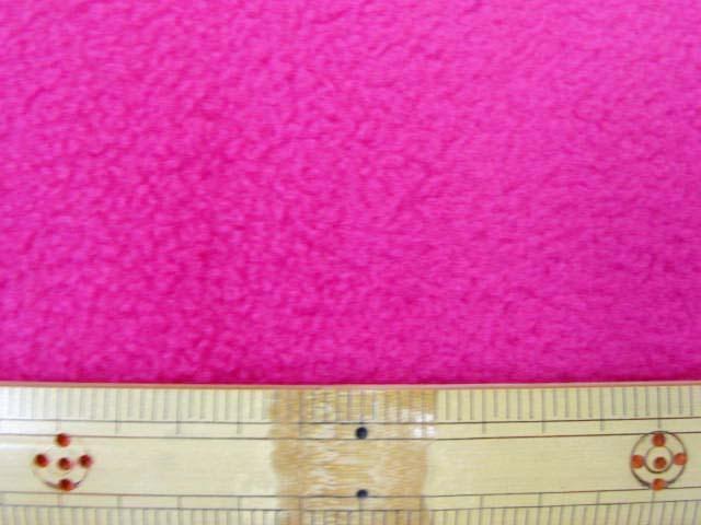 画像1: 【NEW】 フリース 無地(濃いピンク) 50cm単位 アンチピリング加工