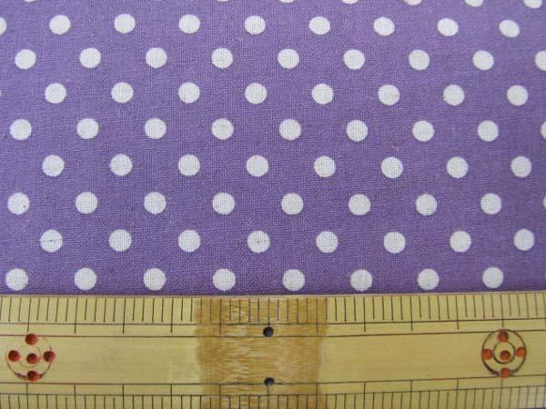 画像1: 綿麻シーチング Dots ドット 水玉柄 (紫地)