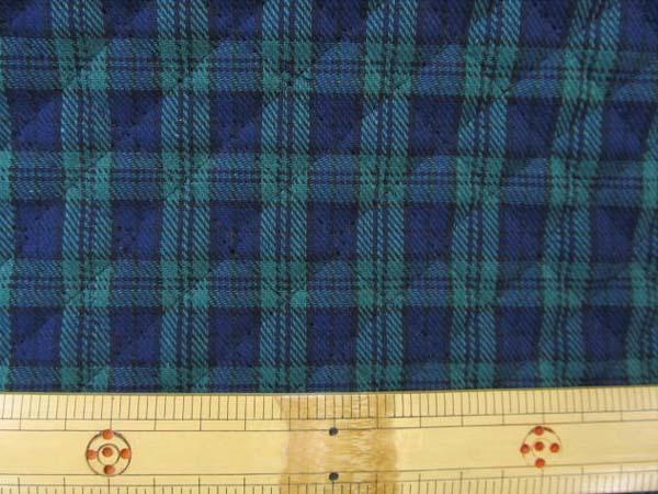 画像1: タータンチェック ブラックウォッチ B/W (緑x紺系) キルトはぎれ90cm