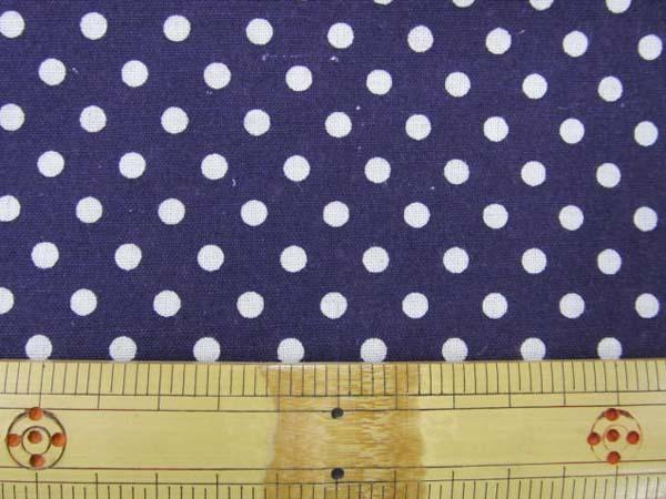 画像1: 綿麻シーチング Dots ドット 水玉柄 (濃い紫地)