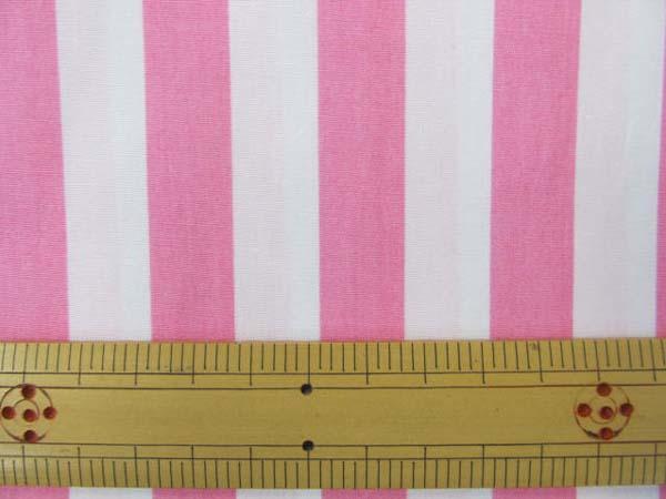 画像1: 定番 ストライプ【大】柄 ブロード生地(ピンク)