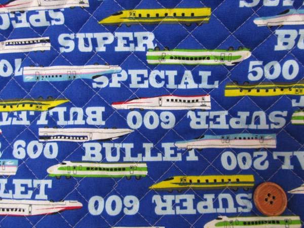 画像1: CB 新幹線 200/500/ 600/ 700系柄 (紺)キルト