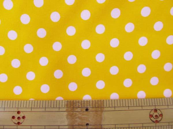 画像1: 定番ブロード 7mmドット柄(黄色)