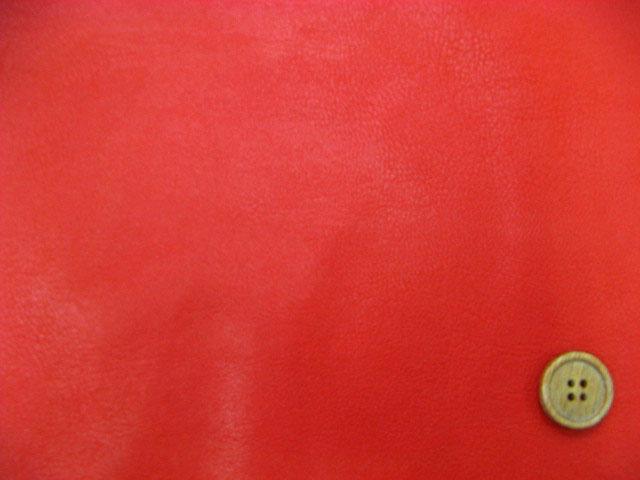 画像1: 合皮 140cm巾 ソフトレザー(伸縮性有り) (赤)はぎれ50cm