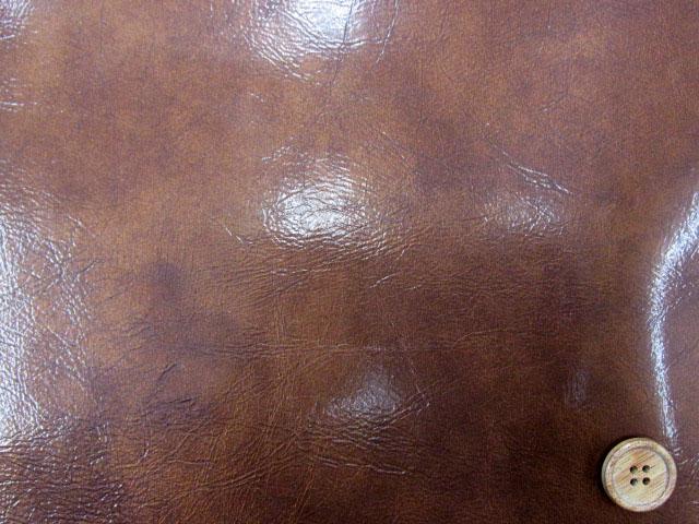 画像1: 135cm巾 エナメル調合皮(レザー)茶 § ↑