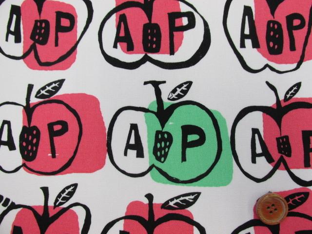 画像1: ◆◆値下げしました。【vegevege】APPLE アップル 11号帆布 (オフホワイト)はぎれ1m10cm