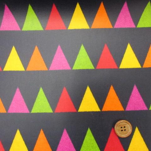 画像1: 値下げしました!【訳あり・現品限り】ハンドメイドコレクション ≪FLAG フラッグ≫ オックス生地 (紺)↑はぎれ90cm ラミネート↑