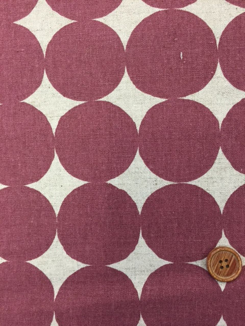画像1: 綿麻キャンバス 和楽美 ナチュラルペイントドット (ピンクパープル)