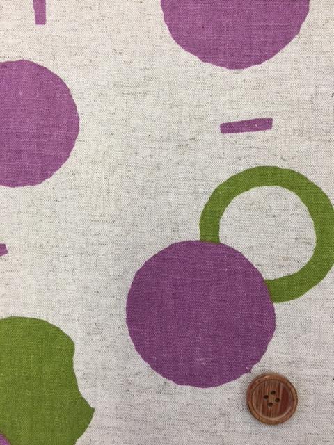 画像1: 綿麻キャンバス 和楽美 デザインドット (生成り)