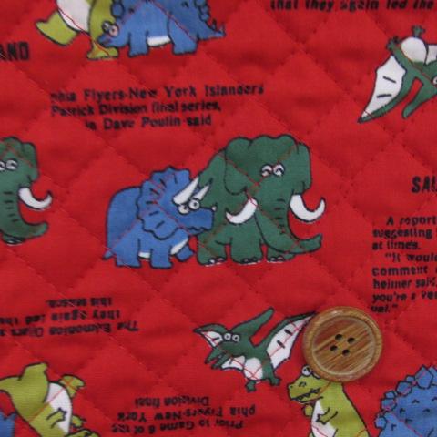 画像1: 【訳あり】88cm巾 マンモス・トリケラトプス・恐竜柄 シーチング生地  キルト