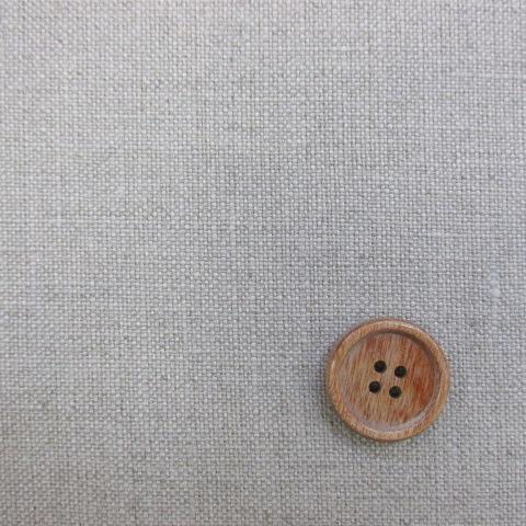 画像1: 11号リネン帆布 110cm巾 湯通し 生成り
