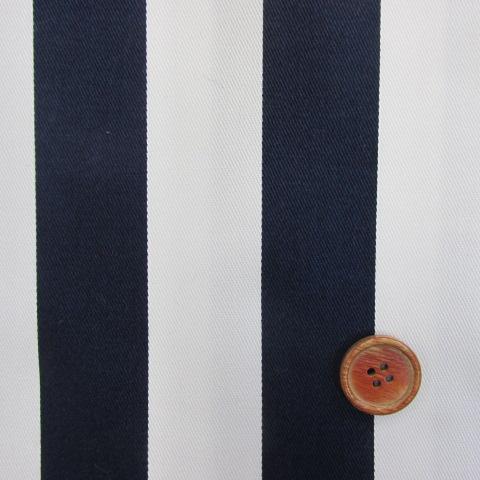 画像1: ツイル生地 マリン調 紺のストライプ(3cm巾)