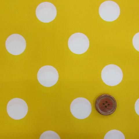 画像1: 定番ブロード 22mmドット柄(黄色)