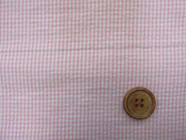 画像1: ?チェック柄 約2mm角 (ピンク) リップル生地 はぎれ60cm