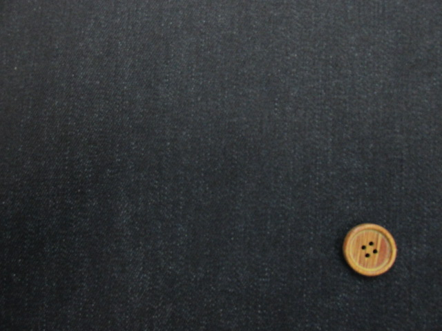画像1: 現品限り 巾129cm ストレッチデニム生地 [§] (濃紺)