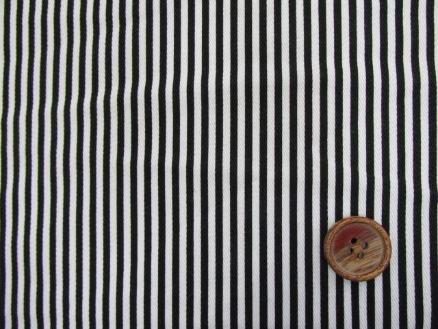 画像1: ツイル生地 セブンベリー 2mm巾ストライプ