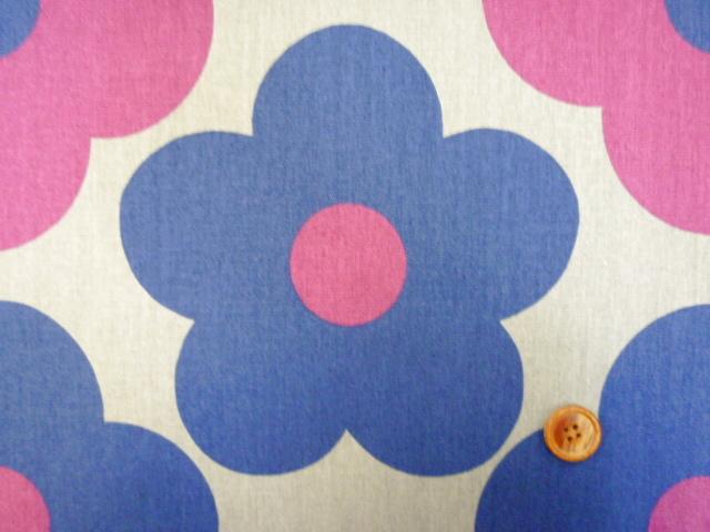 画像4: 綿麻キャンバス 北欧テイスト 大柄モダンフラワー柄