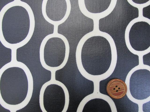 画像2: 綿麻キャンバス デザインサークル柄 ラミネート つや消し