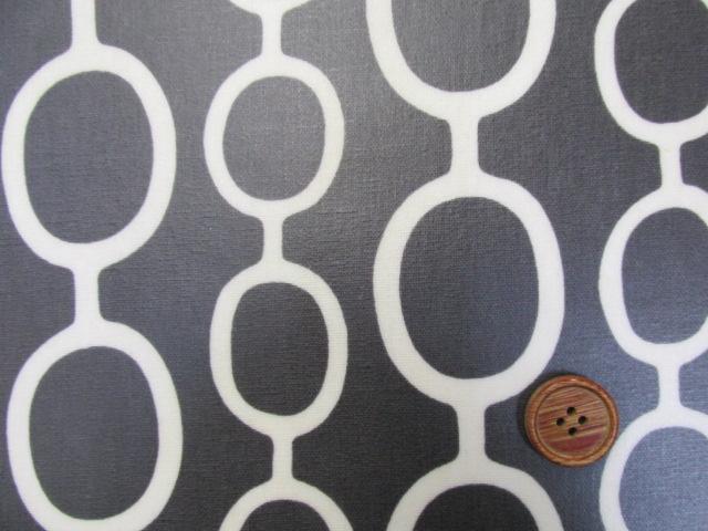 画像4: 綿麻キャンバス デザインサークル柄 ラミネート つや消し