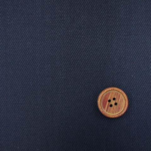 画像1: ☆【お買い得】国産 75cm巾  ドリルセルビッチデニム生地 硫化染 はぎれ30cm(紺)