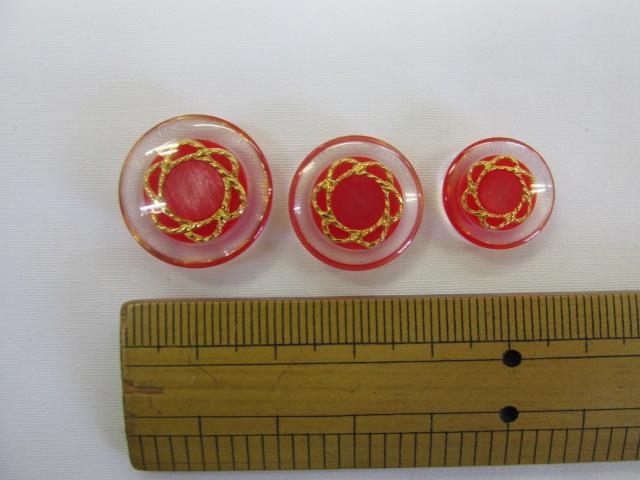 画像1: ボタン(20mm〜15mm)赤