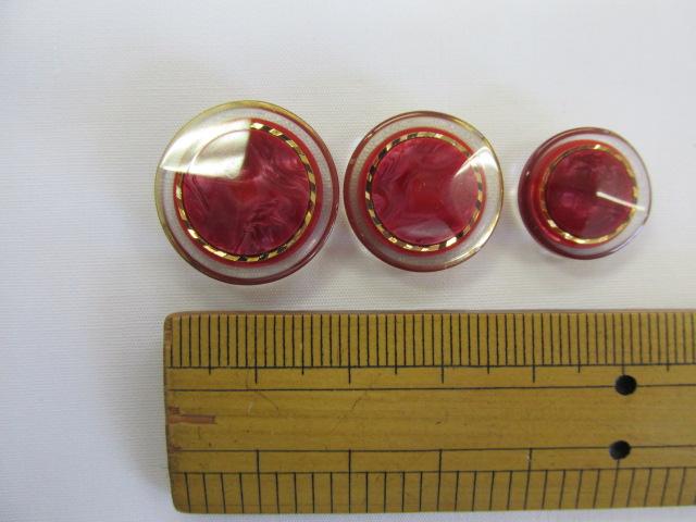 画像1: ボタン(20mm〜15mm)エンジ
