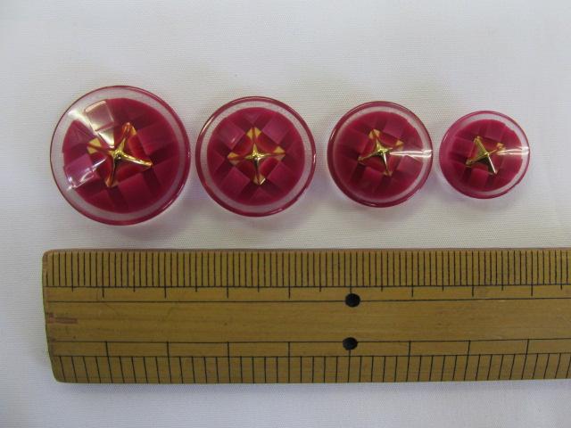 画像1: ボタン(23mm〜15mm)エンジ