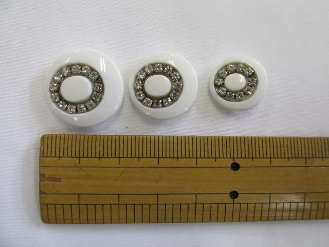 画像1: ボタン(20mm〜15mm)白
