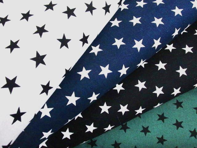 画像1: 綿麻キャンバス 2cm星柄