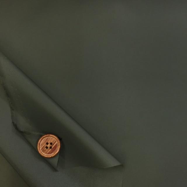 画像2: ☆撥水加工 ナイロンタフタ生地 無地 はぎれ1m(カーキ)