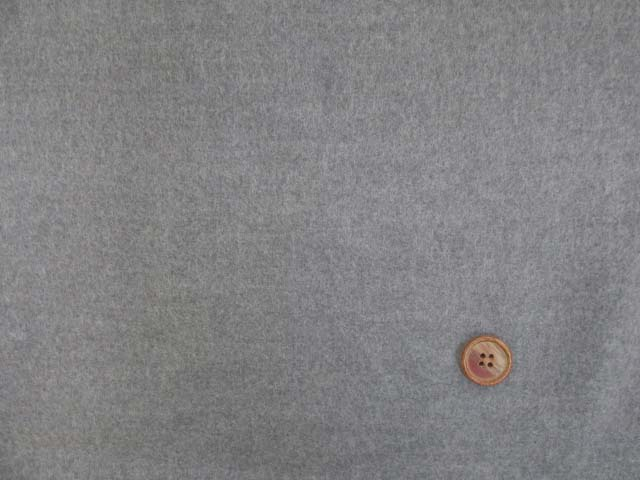 画像2: (5)【お買い得】 118cm巾 無地 ネル起毛生地 (グレー) はぎれ40cm
