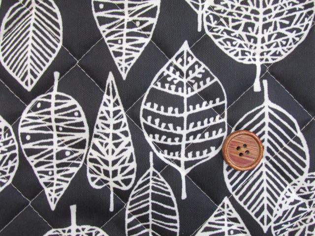 画像4: 撥水加工 ナイロンオックス生地 北欧風 葉柄・カスビィ(植物) 半針キルト生地
