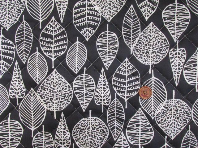 画像5: 撥水加工 ナイロンオックス生地 北欧風 葉柄・カスビィ(植物) 半針キルト生地