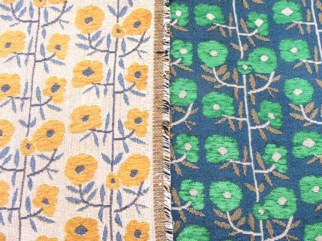 画像1: シンプルフラワー・花柄 ゴブラン織り生地