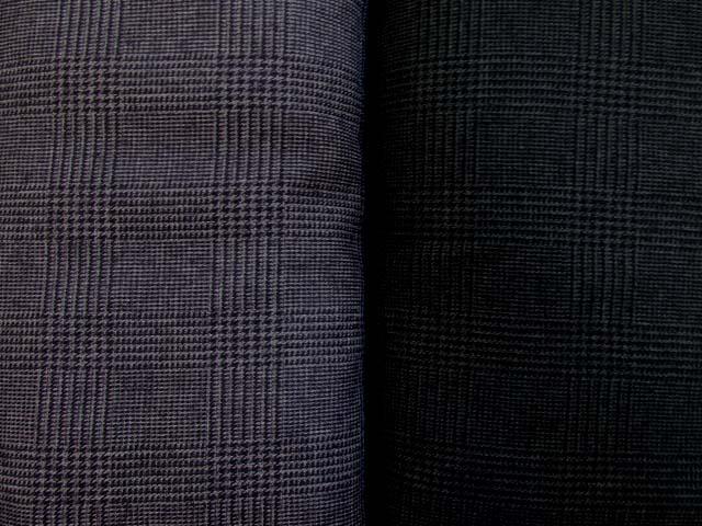 画像1: 巾140cm ツイーディグレンチェック  ポリエステル100%