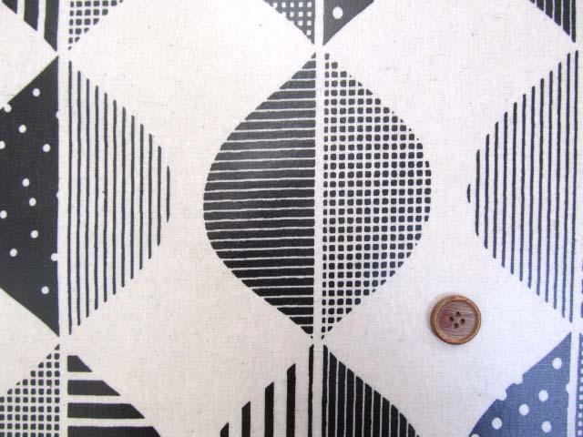 画像1: 綿麻キャンバス 北欧風 デザインリーフ・大きな葉柄 ラミネート つや消し↑はぎれ80cm