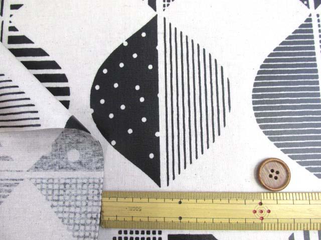 画像3: 綿麻キャンバス 北欧風 デザインリーフ・大きな葉柄 ラミネート つや消し↑はぎれ80cm