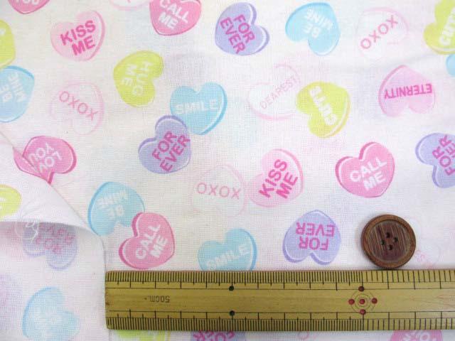 画像3: ☆キャンディーポップ柄 シーチング生地(オフ) はぎれ50cm
