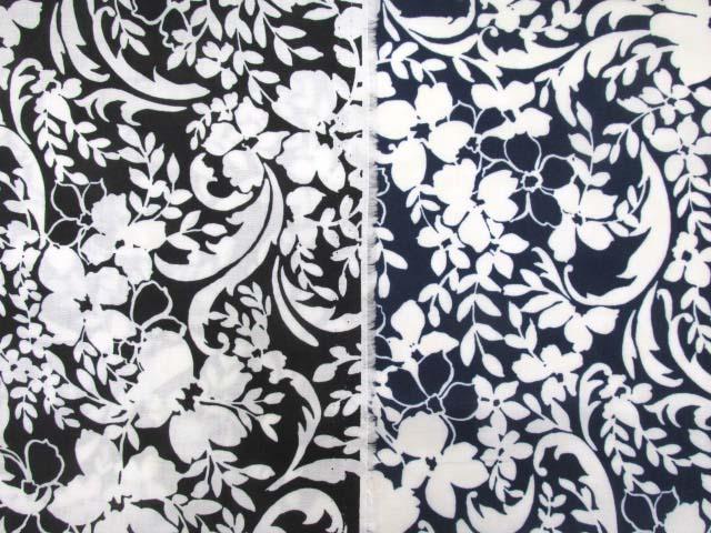 画像1: ソフトパール加工 アートフラワー・花柄 60ローン生地