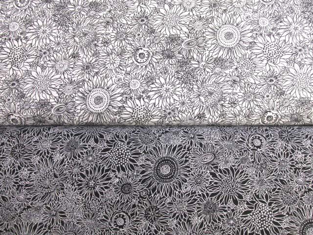 画像1: ヒマワリ・サンフラワー・花柄 スケア生地