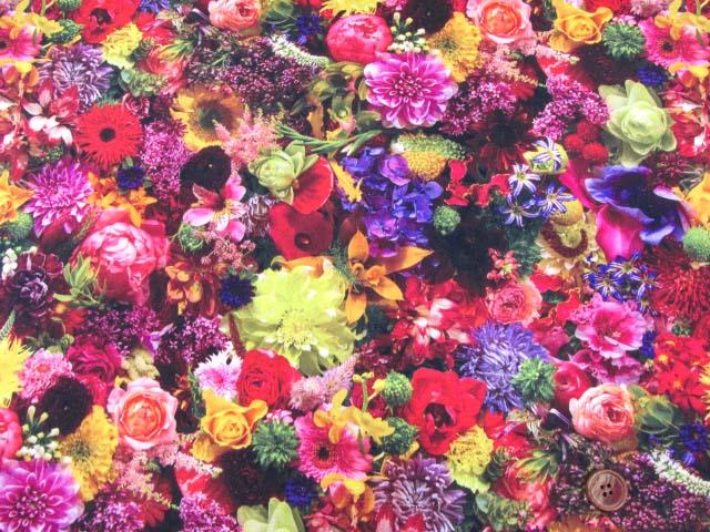 画像2: (5)フラワーシャワー・ガーデン・花柄 インクジェットプリント 20オックス生地 はぎれ15cm(ガーデン03)
