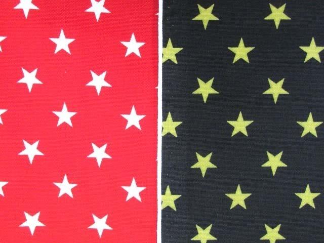 画像1: 定番 スター・星柄 オックス生地